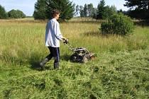 I letos se ochranáři vrhli na kosení podmáčených luk s výskytem vzácné květeny v CHKO.