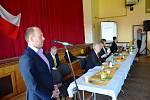 Delegáty pozdravil hned v úvodu také žďárský radní Martin Mrkos, místopředseda krajského výboru STAN - hnutí, které tvoří s KDU-ČSL předvolební koalici.