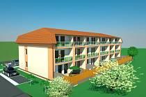 Ve dvou nízkoenergetických bytových domech vznikne po 13 bytech, ve třetím domě bude 16 obytných jednotek.