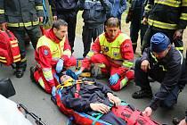 Spolupráce se zdravotníky byla pro hasiče velkým přínosem