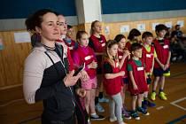 Olympijský trénink na Základní škole Měřín. Na snímku Veronika Vítková.