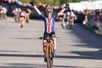 Chloe Woodruff - Vítězka závodu Světového Poháru v cross country horských kol v short tracku žen.
