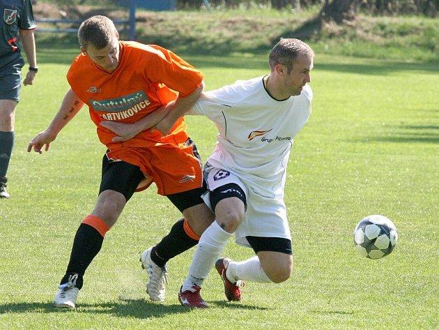 Z utkání Hartvíkovic proti Polné.