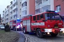 Požár bytu v jednom z domů ve žďárské Neumannově ulici.