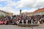 Amfiteátr ve spodní části bystřického Masarykova náměstí slouží k pořádání kulturních a společenských akcí.