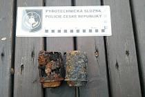 Podle pyrotechnika se jednalo o hlavice německých ručních granátů vzoru 43.