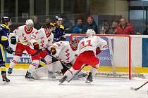 Ve druhém přípravném duelu na novou sezonu zdolali hokejisté Žďáru (v bílých dresech) hodonínské Drtiče 3:1.