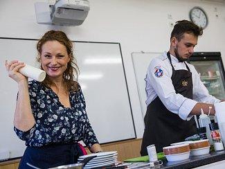 Markéta Hrubešová na 41. gastroddni na Hotelové škole Světlá ve Velkém Meziříčí.