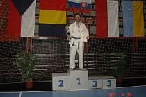 René Pintera vybojoval na Mezinárodním judistickém turnaji veteránů v Povážské Bystrici zlato.