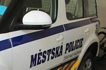 Muž pomočil žďárským strážníkům zaparkované služební vozidlo a schody u budovy městské policie. Ilustrační foto.