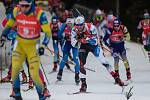 Závod SP v biatlonu (štafeta mužů 4 x 7,5 km) v Novém Městě na Moravě. Na snímku: Michal Šlesingr.