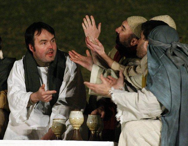 Pašijová hra nazvaná Co se stalo s Ježíšem.