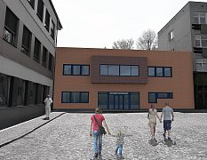 Vizualizace nového dětského pavilonu.