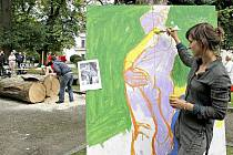 V novoměstském parku tvoří budoucí umělci.