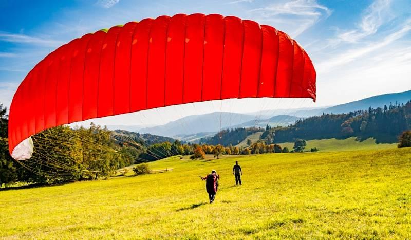 Paragliding Javorův kopec