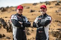 Tomáš Ouředníček (vpravo), David Křípal (navigátor) Dakar 2021.