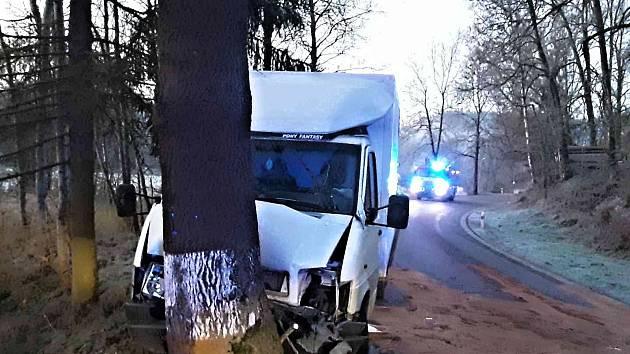 Nehoda dodávky.