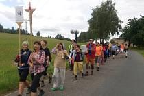 Do Slavkovic letos putovalo více než 180 lidí. Vyšli z Prahy, z Fulneku a Hodonína. Do cíle své cesty, ke slavkovickému kostelu Božího milosrdenství, došli za týden.