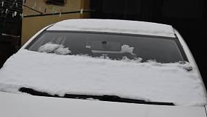 Na Žďársku napadl první sníh