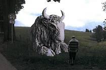 Čtyřmetrová socha má být podle plánu radnice umístěna v bystřické lokalitě Lužánky v těsné blízkosti Pohádkové aleje pod dětským lanovým parkem.