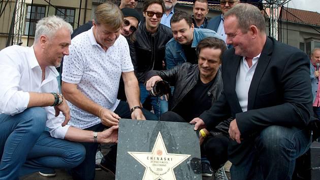 Hvězda kapely Chinaski byla slavnostně pokřtěna v rámci bítešských hodových slavností.