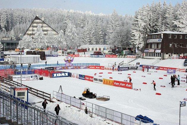 Areál u hotelu Ski.