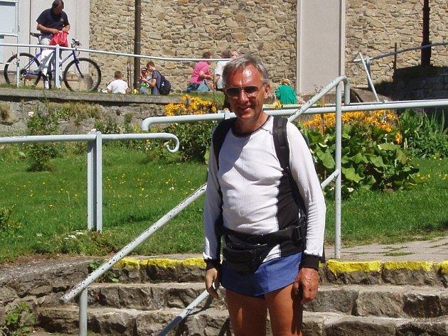 Po loňské dálkové túře na Říp se nedvědický turista Petr Vejrosta vydal na svoji další, více než dvě stě kilometrů dlouhou sólovou cestu.