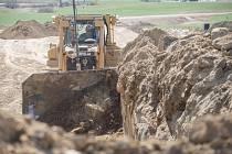 Stavební práce na obchvatu (Nové Veselí). Ilustrační foto