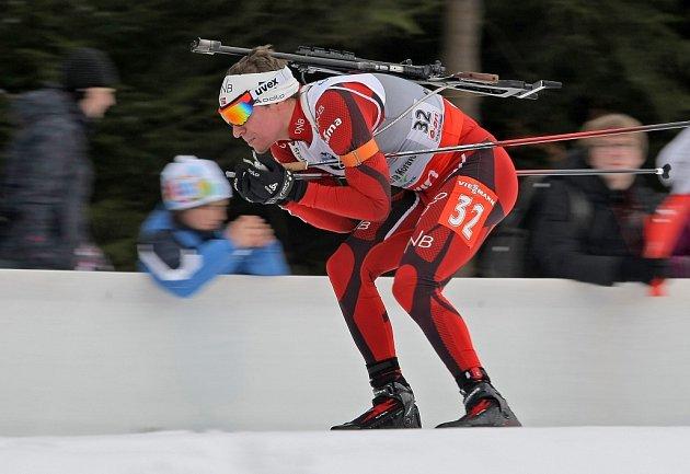Mistrovství světa v biatlonu – NMNM – 9. 2. 2013. Na snímku Svendsen.