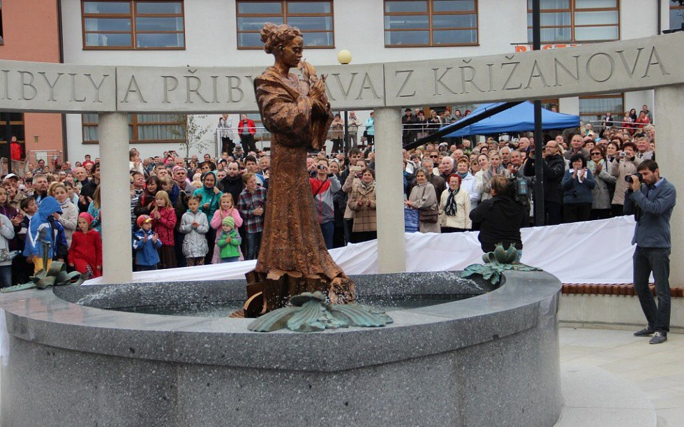 Odhalení památníku svaté Zdislavy v Křižanově.