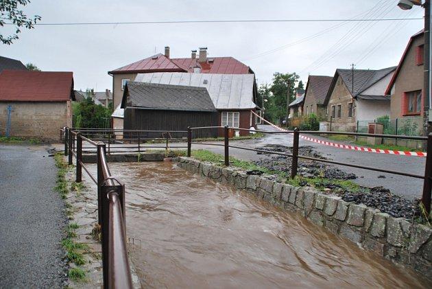 Velká voda ve Svratce.