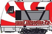 Velkému Meziříčí bude dělat reklamu červenobílý motorový vlak polepený městskými motivy.