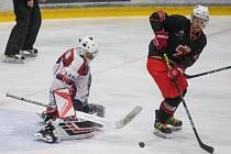 Hokejové utkání druhé ligy mezi SKLH Žďár nad Sázavou a BK Havlíčkův Brod.