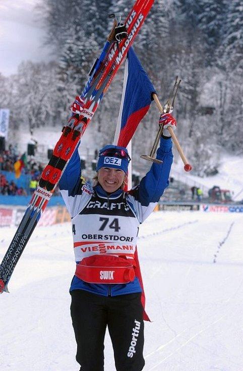 MS v Oberstdorfu 2005 - vítězka Kateřina Neumannová