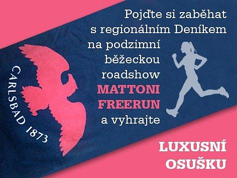Pojďte si zaběhat s regionálním Deníkem na podzimní běžeckou roadshow MATTONI FREERUN.