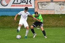 Už potřetí v tomto ročníku MSFL se fotbalisté Vrchoviny (v zeleném) v sobotu představí na domácí půdě. Z předchozích dvou duelů ale vytěžili jen bod.