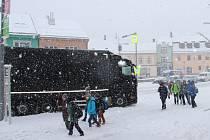 Sněhová kalamita na Žďársku.