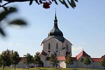 Poutní kostel svatého Jana Nepomuckého na Zelené hoře.