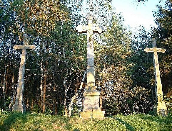 U Třech křížů.