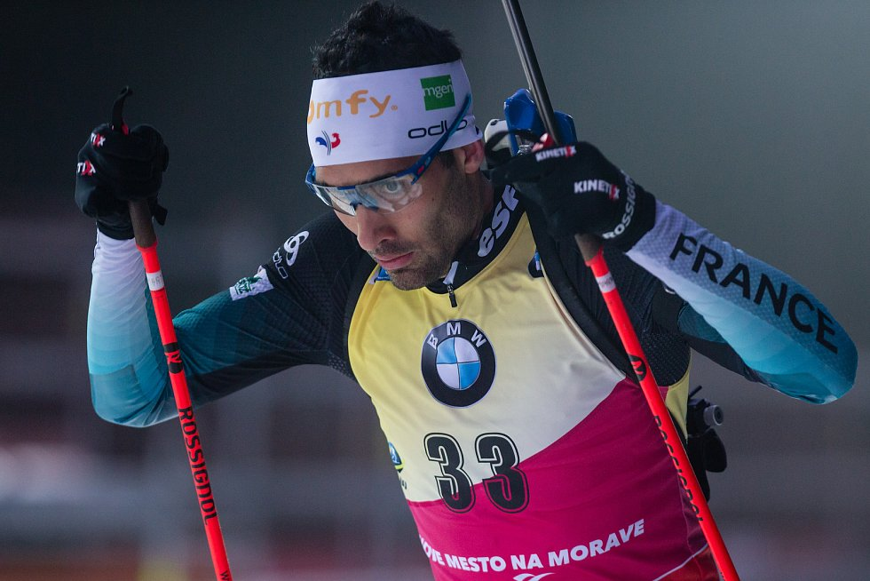 Závod SP v biatlonu (sprint 10 km muži) v Novém Městě na Moravě. Na snímku: Martin Fourcade.