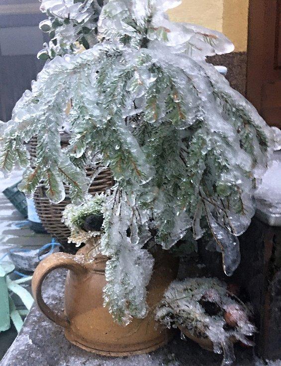 I námraza dokáže vykouzlit bílé Vánoce.