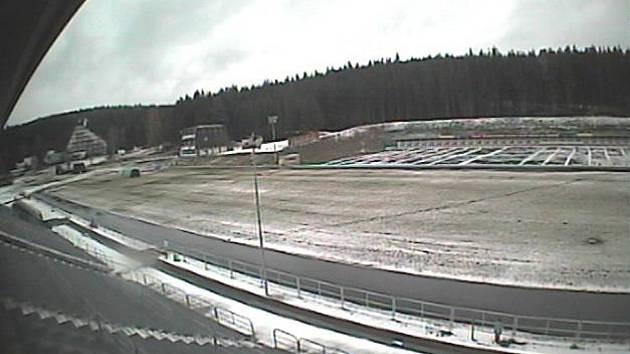 Pohled na novoměsstský lyžařský stadion 19. listopadu.