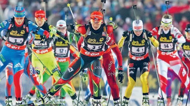 Biatlonové závody v Novém Městě na Moravě.