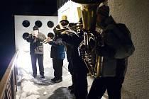 Jako každý rok, i letos si mohli lidé poslechnout vánoční koledy v hudbě na dechové nástroje.