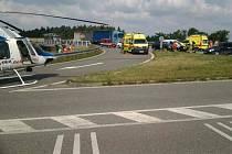 Jedno zraněné dítě a další čtyři zranění dospělí. To je bilance dopravní nehody, ke které došlo v úterý dopoledne u obce Oslavice na Žďársku.
