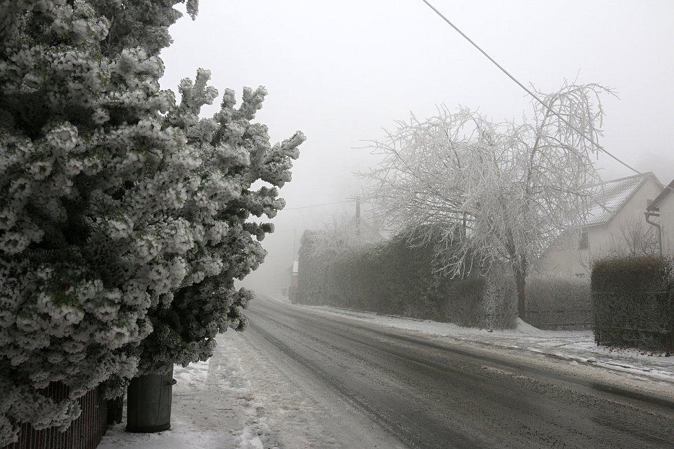 Ledovka na Vysočině, ilustrační foto