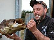 Hosté rybářů si pochutnávali na jejich úlovcích.