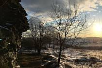Vrchol Vávrovy skalky nabízí nádherný výhled.