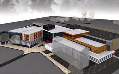 Pohled na hlavní vstup Regeneračního centra.
