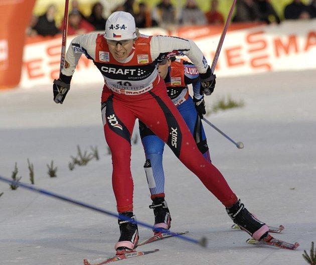 Loňská tour - Kateřina Neumannová při sprintu v Mnichově.